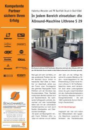 In jedem Bereich einsetzbar: die Allround-Maschine Lithrone S 29