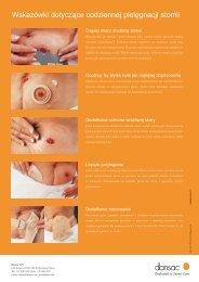 Wskazówki dotyczące codziennej pielęgnacji stomii
