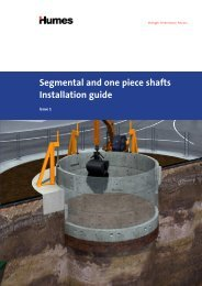 Segmental and one piece shafts Installation guide - Humes