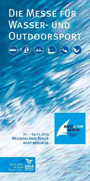 Die Messe für Wasser- und Outdoorsport - Boot und Fun