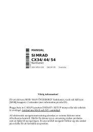 SIMRAD - Manual för CX34, CX44 & CX54