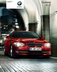 2011 3 Series Owner's Manual with iDrive - Irvine BMW