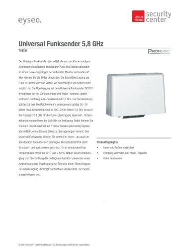 Universal Funksender 5,8 GHz - ALARME DIRECT