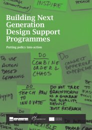 Building Next Generation Design Support Programmes - See Project