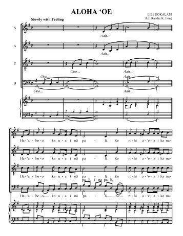 ALOHA 'OE - Mondoy Music