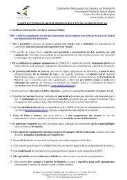 Normas de Uso - Lameb - UFSC