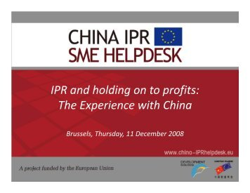 How_to_Protect_your_.. - China IPR SME Helpdesk