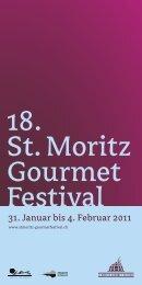 18. St. Moritz Gourmet Festival