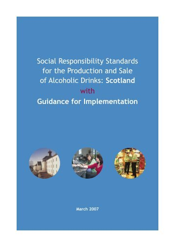 Social Responsibility Standards for the Production and Sale of ...