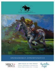 T-Shirt Sponsor - Polo at the Point