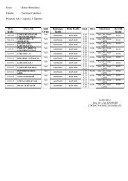 Edebiyat Fakültesi Program Adı : Coğrafya I. Öğretim 22.06.2012 ...