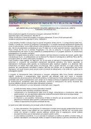 Progetto di riqualificazione ambientale dell'area - osservatorio del ...
