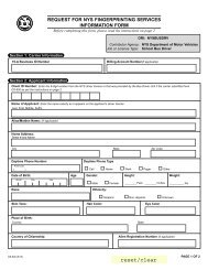 request for nys fingerprinting services information form - DMV - New ...