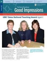 Good Impressions - UBC Dentistry - University of British Columbia