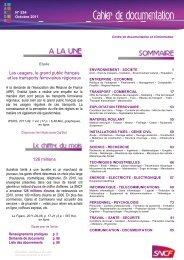 Les usagers, le grand public français et les transports ... - UIC