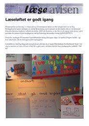 Logisk begynderundervisning i læsning - Greve Kommune