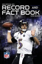 NFL Record & Fact Book - Seahawks Online Media Packet