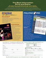 The Best Information Print and Online - PollstarPro