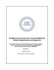 Guidelines for Secure Use of Social Media by Federal Departments ...