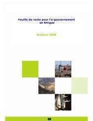 Feuille de route pour l'e-gouvernement en Afrique Octobre 2008