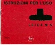 Leica M5 libretto d'istruzioni 12/1971 Italiano (PDF 1 ... - Marco Cavina
