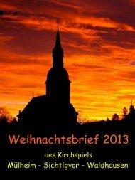 Weihnachtsbrief der Kirchengemeinde Mülheim-Sichtigvor ...