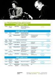 Le programme des Joutes Musicales 2013