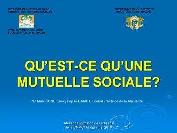 LES MUTUELLES SOCIALES - COOPAMI