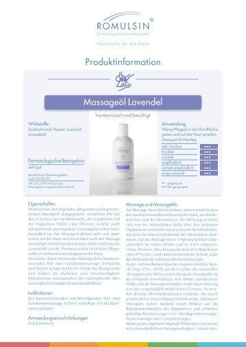 Massageöl beruhigend Lavendel - diacosa.ch