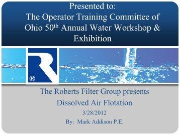 Dissolved Air Flotation - Ohiowater.org