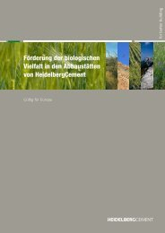 HeidelbergCement - Business and Biodiversity: Business and ...