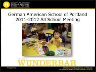 2012 All School Meeting PPT - The German American School of ...