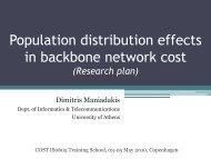Population Distribution Effects in Backbone Network Cost