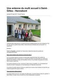 Une antenne du multi accueil à Saint- Gilles - Hennebont - PEP 56