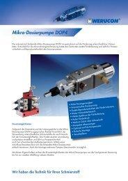 Mikro-Dosierpumpe DOP4 - Werucon Automatisierungstechnik GmbH