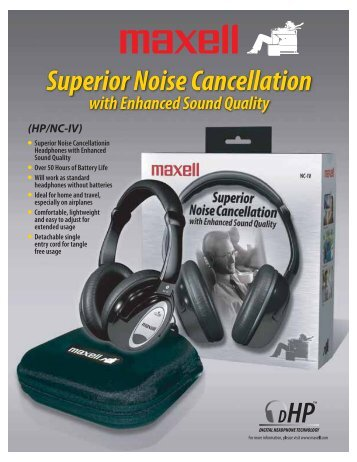 Superior Noise Cancellation Headphone - Maxell Canada