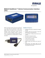 MAHLE DataWorks™ Vehicle Communication Interface (VCI)