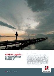 ASPECT4 Logistics A Presentation of Release 9.1
