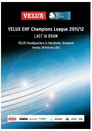 VCL Last 16 Draw Cover - European Handball Federation