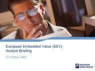 European Embedded Value (EEV) Analyst Briefing - Friends Life