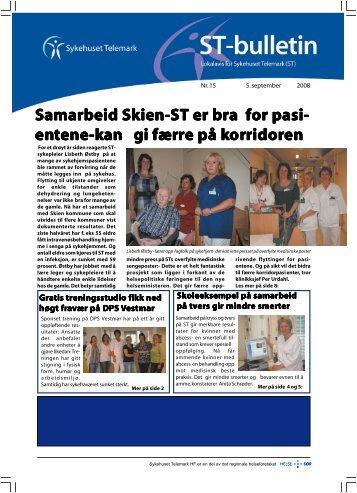 ST-nytt nr. 15, 2008 - Sykehuset Telemark