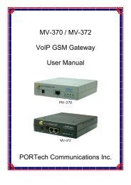 MV-370 / MV-372 VoIP GSM Gateway User Manual ... - LinkShop