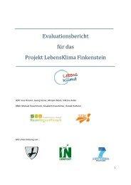 Evaluationsbericht für das Projekt LebensKlima Finkenstein