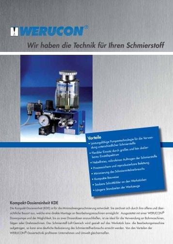 Kompakt-Dosiereinheit - KDE - Werucon Automatisierungstechnik ...