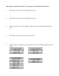Modified Math 074 Lesson on Dimensional Analysis - The Learning ...