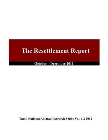 The Resettlement Report: October - dbsjeyaraj.com