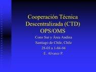 Cooperación técnica descentralizada (CTD) OPS/OMS