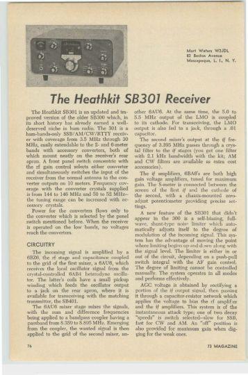 The Heathkit SB-301 Receiver - Nostalgic Kits Central