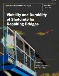Viability and Durability of Shotcrete for Repairing Bridges