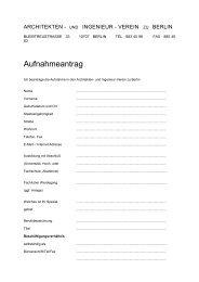 Aufnahmeantrag - und Ingenieur-Verein zu Berlin eV